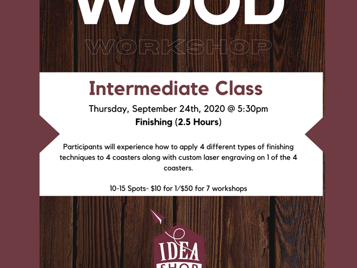 Intermediate Woodworking Class - Finishing